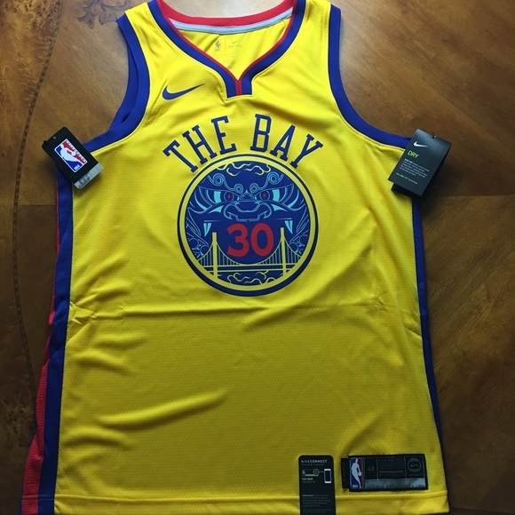low priced 5ae30 c1077 Stephen Curry Chinese New Year Nike Jersey NWT